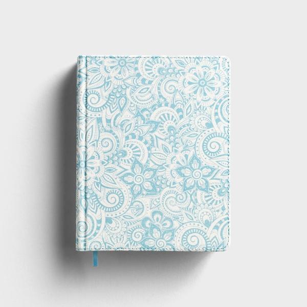 KJV Notetaking Bible - Blue Floral Cloth Hardcover