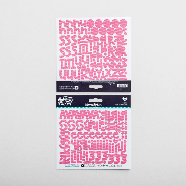 Illustrated Faith - 194-Piece One in a Melon Alphabet Stickers