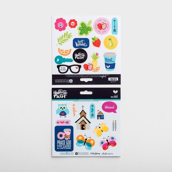 Illustrated Faith - 27-Piece His Word Stickers