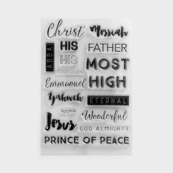 Illustrated Faith - Names of God - Clear Stamps, Set of 16