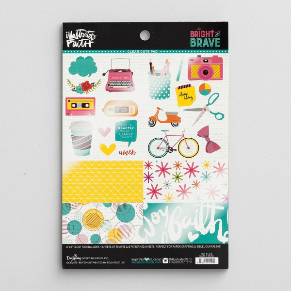 Illustrated Faith - Bright and Brave - Clear Cuts Pad