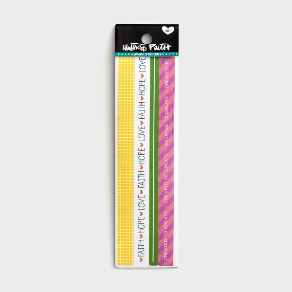 Illustrated Faith - Colorful - Washi Stickers