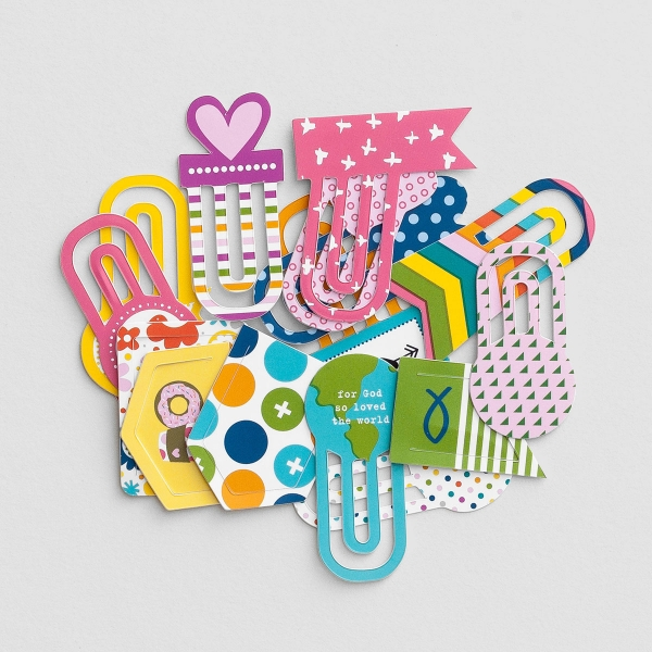 Illustrated Faith - Colorful - 16-Piece Designer Clips