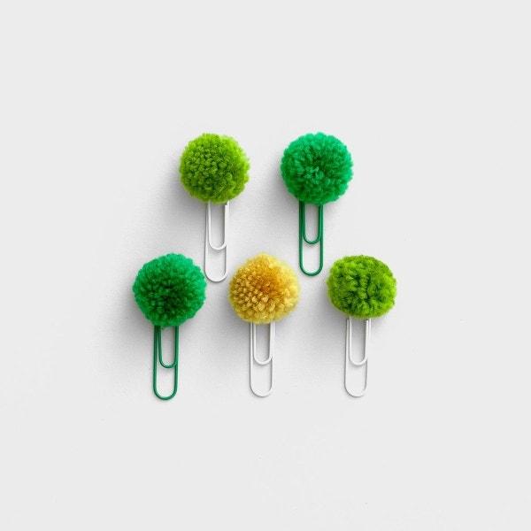 Illustrated Faith - Olive You - Pom Pom Clips, Set of 5
