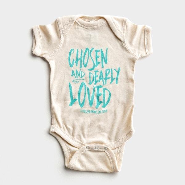 Chosen & Dearly Loved - Cream Bodysuit - 6 months
