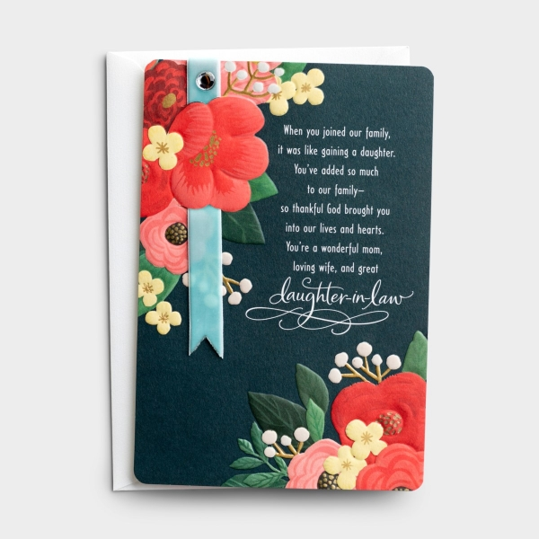 Mother's Day - Daughter-In-Law - You've Added So Much - 1 Greeting Card