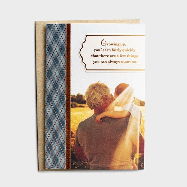 Father's Day – For Grandpa – A Grandpa's Smile – 1 Premium Card