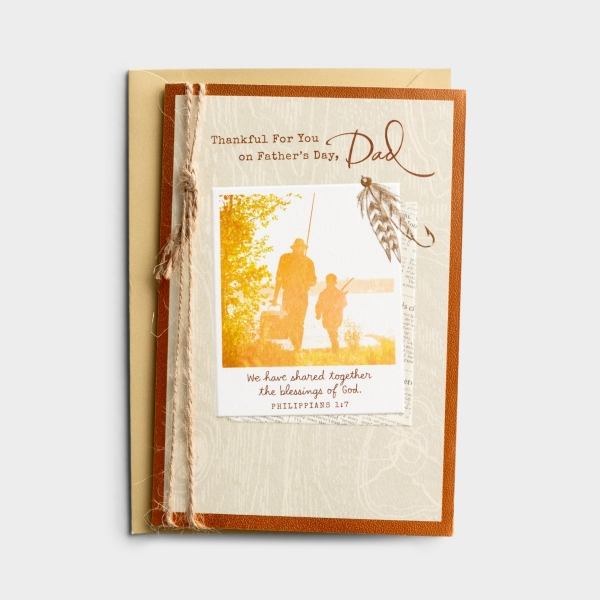 Father's Day – Thankful for You, Dad – 1 Greeting Card