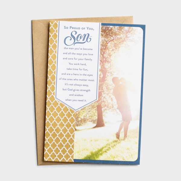 Father's Day - For Your Son - Proud of You, Son - 1 Greeting Card