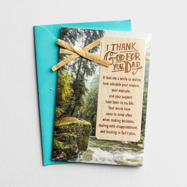 Father's Day - Dad - I Thank God For You - 1 Greeting Card - KJV