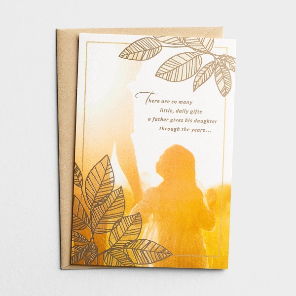 Father's Day - Dad - From Daughter - 1 Premium Card