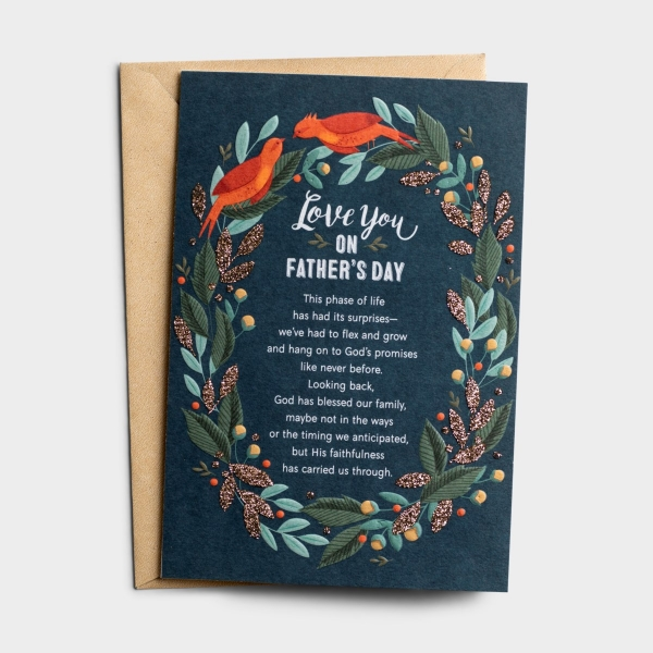 Father's Day - For A Husband - God Has Carried Us - 1 Greeting Card