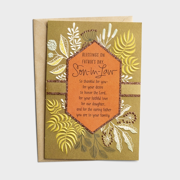 Father's Day - For Son-In-Law - Blessings - 1 Premium Card