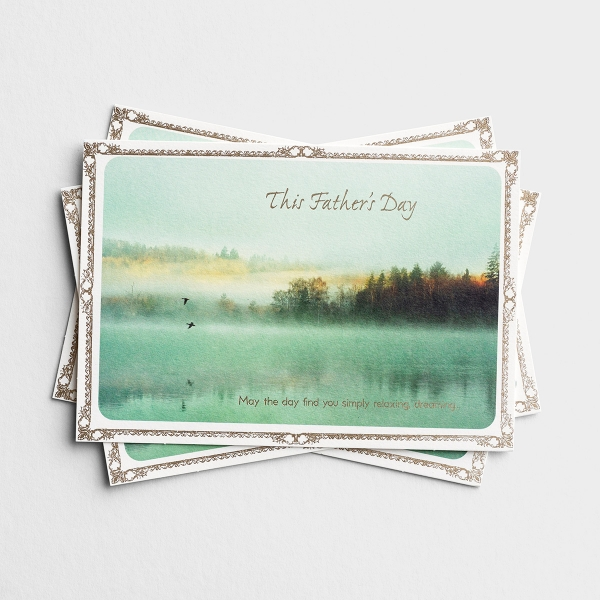 Father's Day - For Anyone - Lake Scene - 3 Premium Cards, KJV