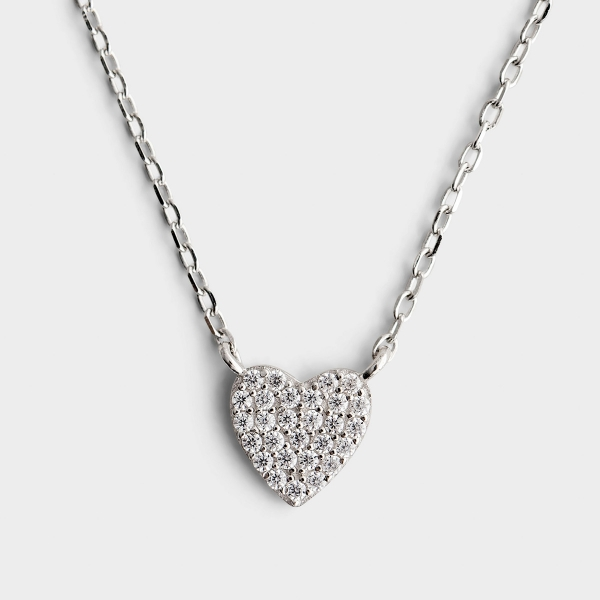 Wildly Loved - Sterling Silver Small Pendant Necklace