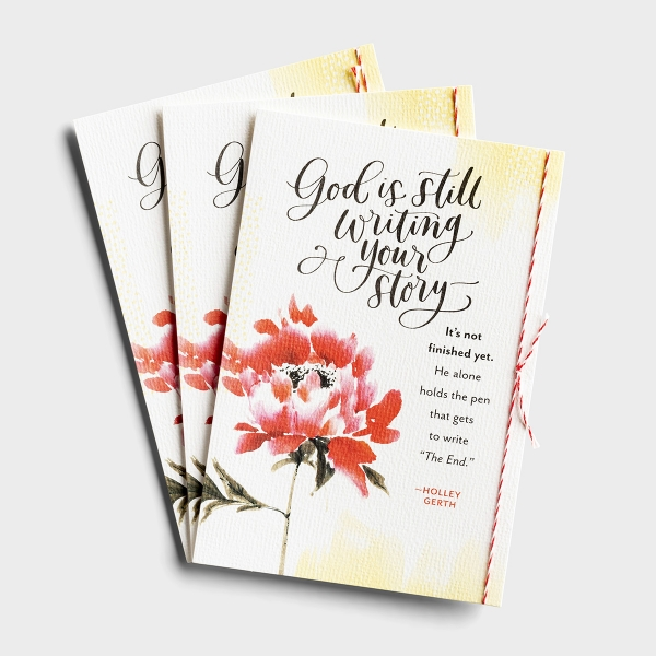 Holley Gerth - God is Writing Your Story - 3 Premium Cards