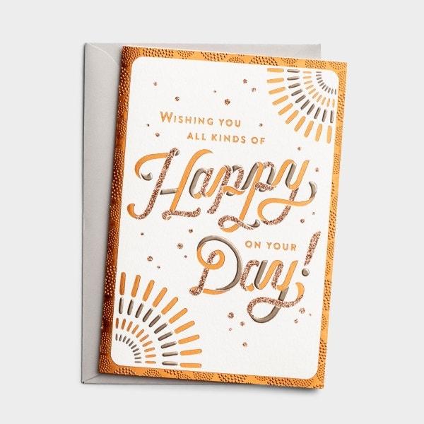 Birthday - Happy Day - 1 Greeting Card