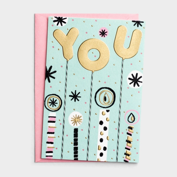 Birthday - For Anyone - Blessing of You - 1 Greeting Card