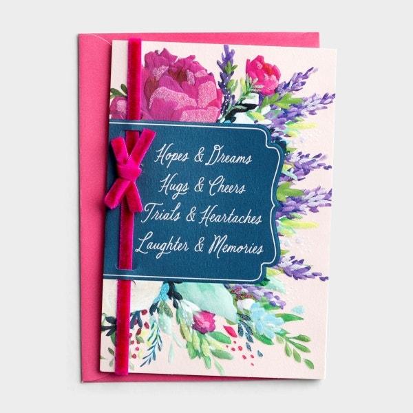 Birthday - Friend - Hopes & Dreams - 1 Greeting Card - KJV