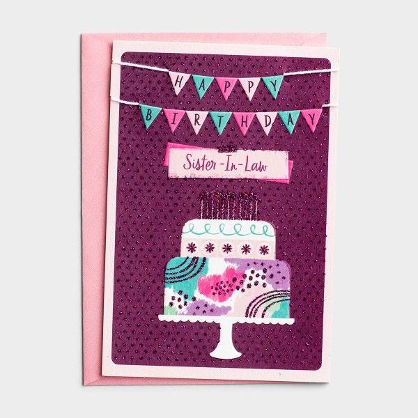 Birthday - Sister-In-Law - Cake - 1 Premium Card