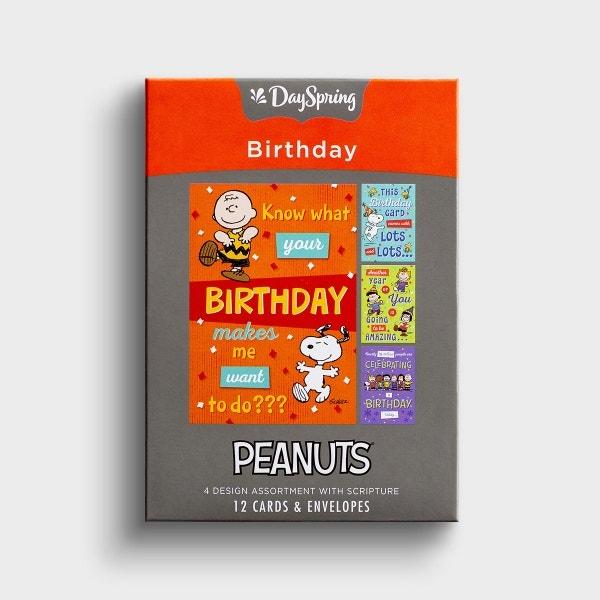 Peanuts - Happy Birthday - 12 Boxed Cards