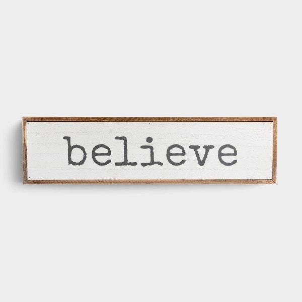 Believe - Wooden Framed Wall Art