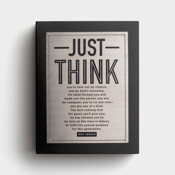 Just Think - Plaque
