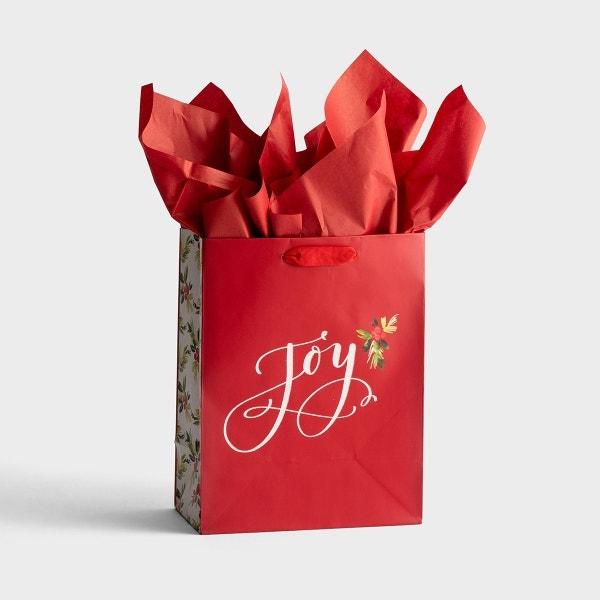 Joy - Medium Christmas Gift Bag with Tissue