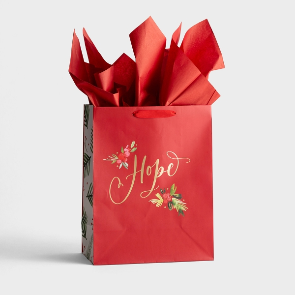 Hope - Large Christmas Gift Bag with Tissue