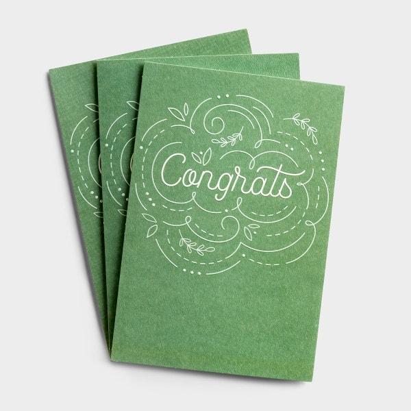 Congratulations - Happy For You - 3 Premium Cards