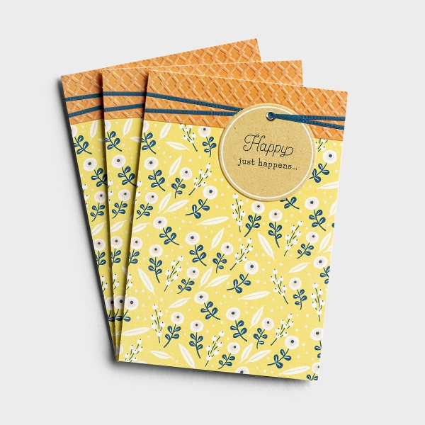 Congratulations - Happy Happens - 3 Premium Cards
