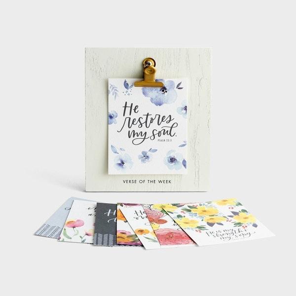 Studio 71 - He Restores - Verse of the Week - Clip Frame & Prints