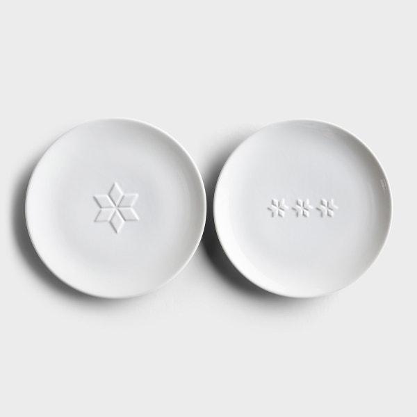 Simply Christmas Dessert Plates - Set 1 - 2 Plates