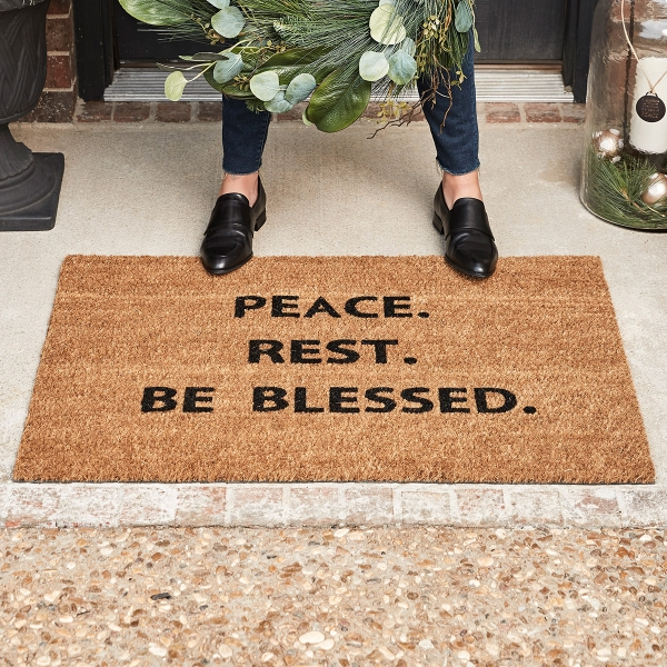 Candace Cameron Bure - Peace. Rest. Be Blessed. Doormat