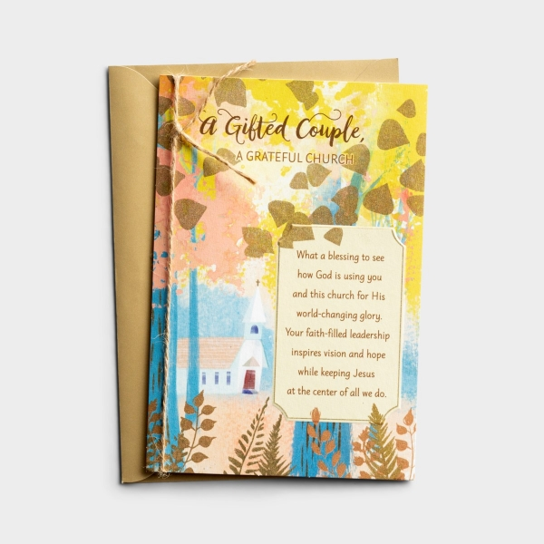 Ministry Appreciation - A Gifted Couple - 1 Greeting Card