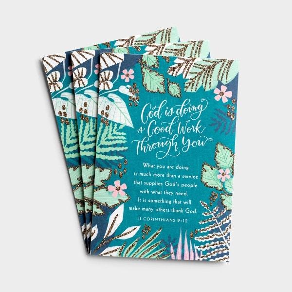 Ministry Appreciation - A Good Work - 3 Premium Cards