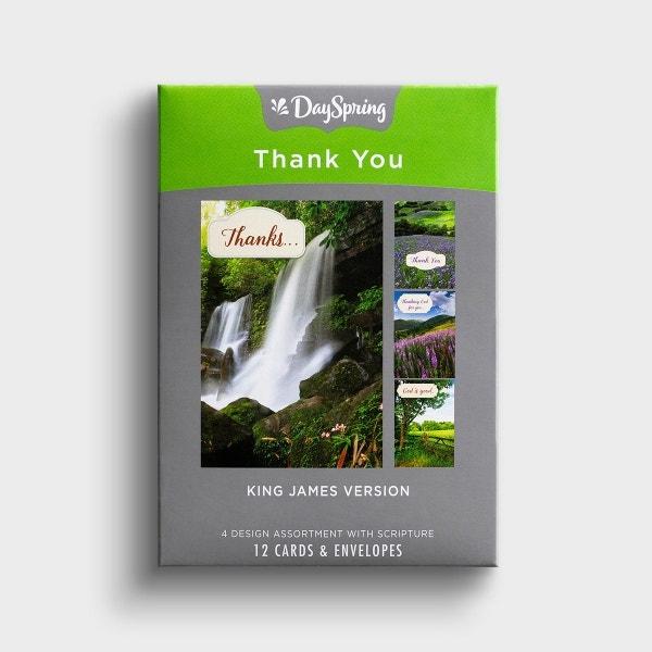 Thank You - Landscapes - 12 Boxed Cards, KJV