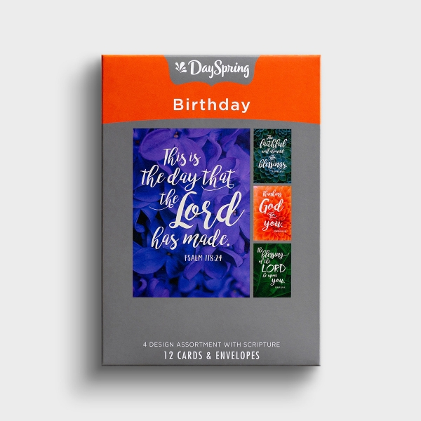 Birthday - Thanking God For You - 12 Boxed Cards