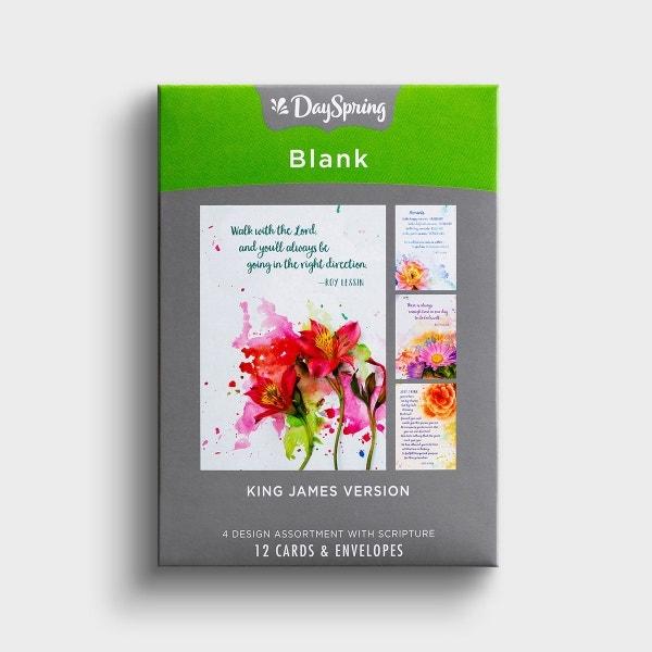 Blank - Watercolors - 12 Boxed Cards, KJV