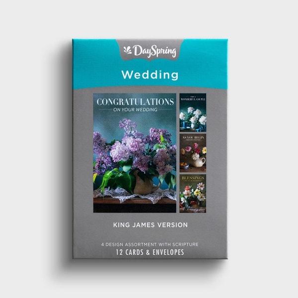 Wedding - Flower Vases - 12 Boxed Cards, KJV