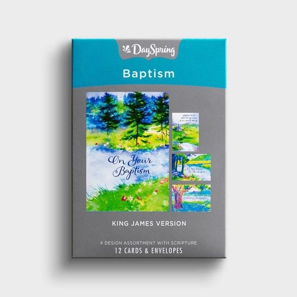 Baptism - Step of Faith - 12 Boxed Cards, KJV