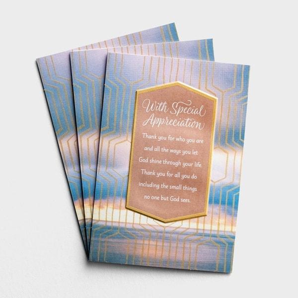 Ministry Appreciation - God Shines Through You - 3 Premium Cards