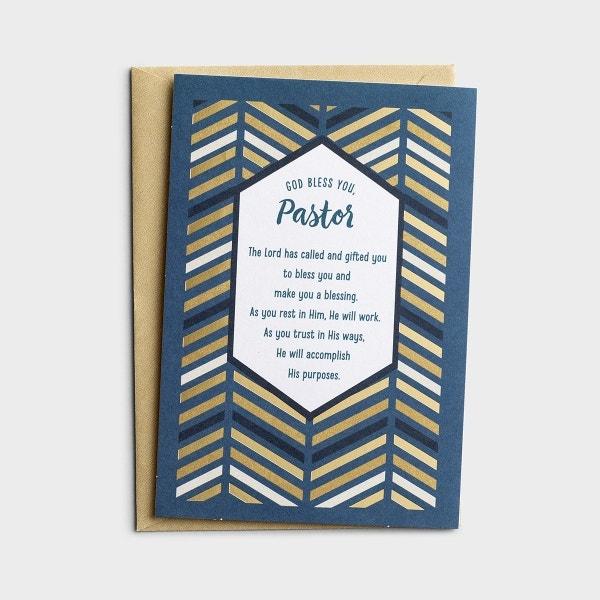 Ministry Appreciation - God Bless You, Pastor - 1 Premium Card
