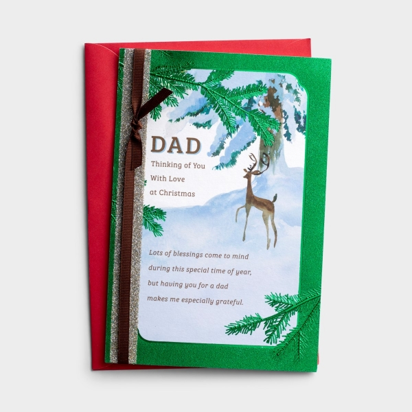 Christmas - Dad - Thinking of You - 1 Greeting Card