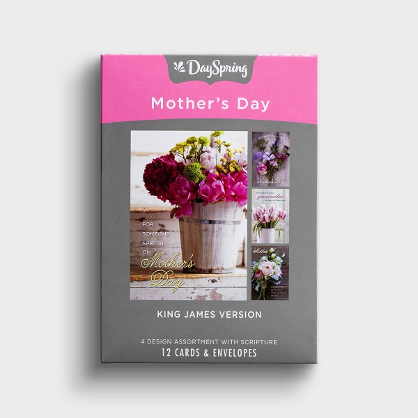 Mother's Day - Bouquets - 12 Boxed Cards, KJV