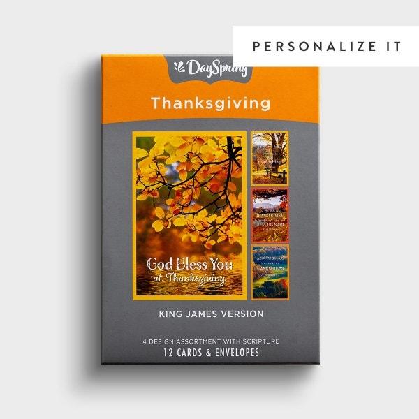Thanksgiving - Fall Landscapes - 12 Boxed Cards, KJV