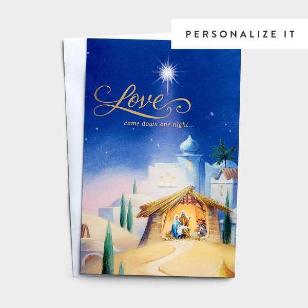 Love Came Down One Night - 50 Christmas Boxed Cards, KJV