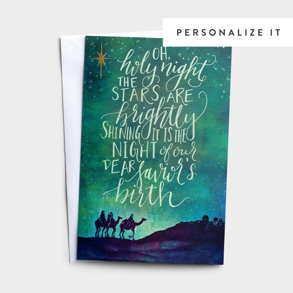 Oh, Holy Night - 50 Christmas Boxed Cards, KJV