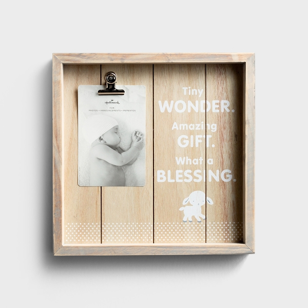 Tiny Wonder - Wooden Baby Picture Frame