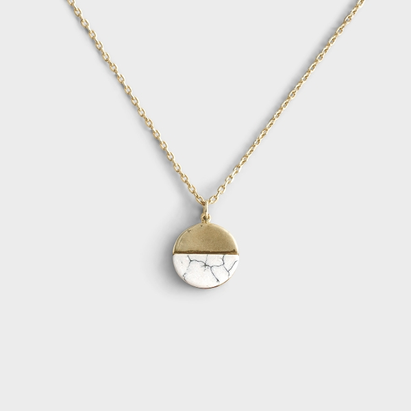 Transformed By Faith - Gold Necklace